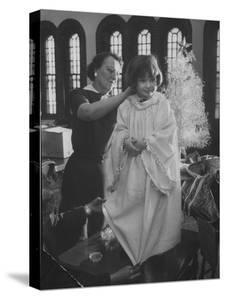 Preparations for Christmas Pageant at Bryn Mawr Community Church and at Orphanage by Francis Miller