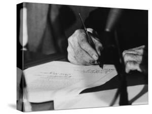 Pres. Lyndon B. Johnson Signing the Civil Rights Bill by Francis Miller