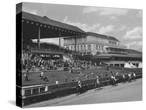 Race Track and Stands with Clubhouse with Casino at Right by Francis Miller