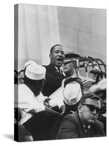"""Rev. Martin Luther King Jr. Giving His """"I Have a Dream"""" Speech During a Civil Rights Rally by Francis Miller"""