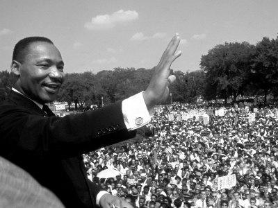 """Rev. Martin Luther King Jr. Giving His """"I Have a Dream"""" Speech During March on Washington"""