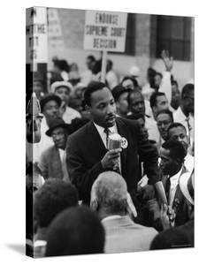 Rev. Martin Luther King, Jr. Leading Negro Demonstration for Strong Civil Rights by Francis Miller