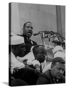 Rev. Martin Luther King Jr. Speaking During a Civil Rights Rally by Francis Miller