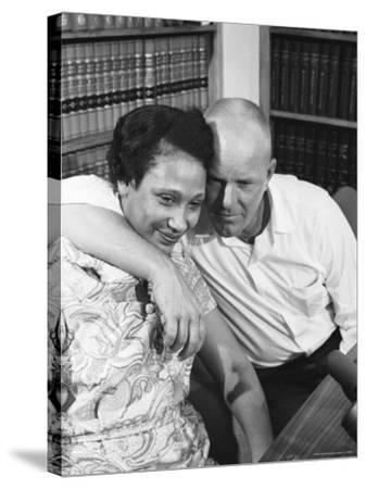 Richard P. Loving and Wife, After Supreme Court Rules That Inter Racial Marriage is Legal