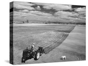 Spring Plowing on Farm in de Soto, Kansas by Francis Miller