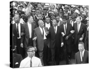 Walk to Freedom Marchers Including Dr. Martin Luther King Jr. and Detroit Mayor Jerome P. Cavanaugh by Francis Miller