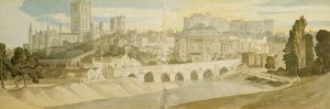 Durham Cathedral and Castle from the River Wear by Francis Towne