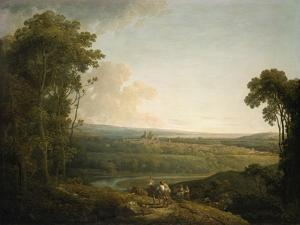 Exeter from Exwick, 1794 by Francis Towne