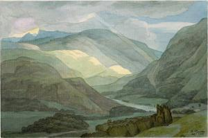 Rydal Water, 1786 by Francis Towne