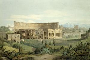 The Colosseum from the Caelian Hills, 1799 by Francis Towne
