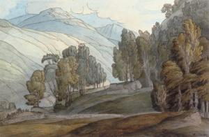 The Vale of St John, Cumberland, 1786 by Francis Towne