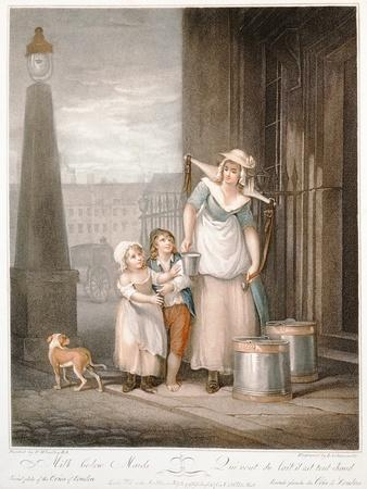 """""""Milk Below Maids"""", Plate 2 of 'The Cries of London', Engraved by Luigi Schiavonetti (1765-1810),…"""