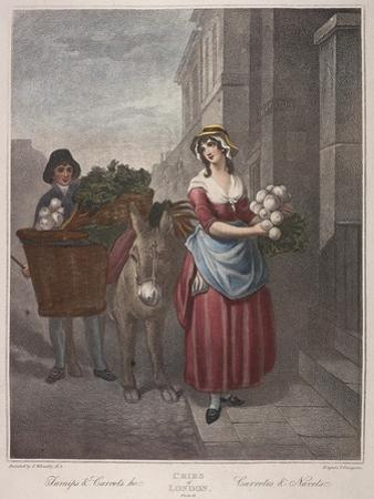 Turnips and Carrots Ho, Cries of London, C1870 by Francis Wheatley
