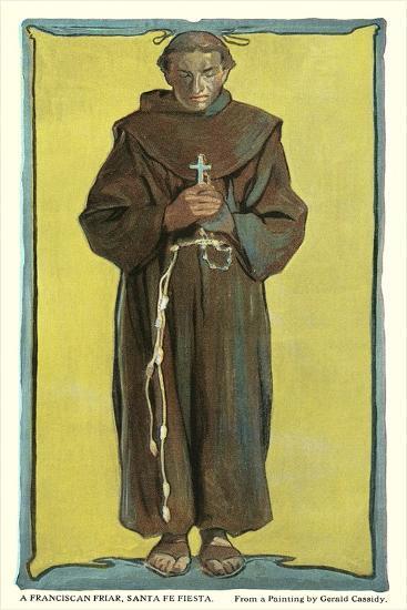 Franciscan Friar, Santa Fe Fiesta--Art Print