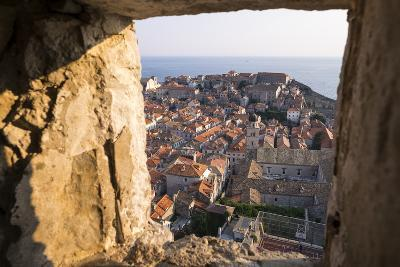 Franciscan Monastery and Rooftops by Sea in Dubrovnik, Croatia-Krista Rossow-Photographic Print