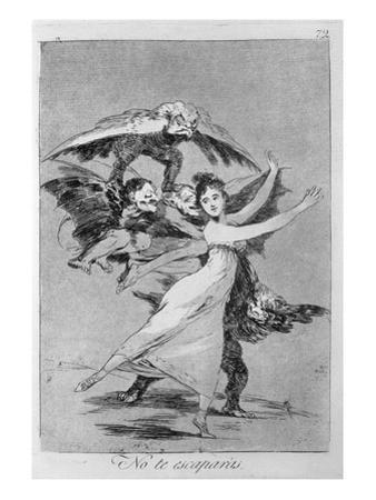 193-0082172 You Will Not Escape, Plate 72 of 'Los Caprichos', 1799 (Etching) by Francisco de Goya