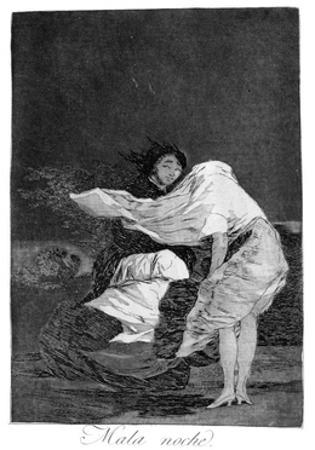 A Bad Night, 1799 by Francisco de Goya