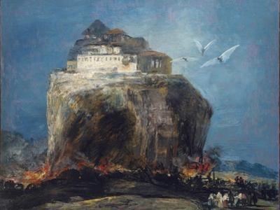 A City on a Rock, 1850-75 by Francisco de Goya