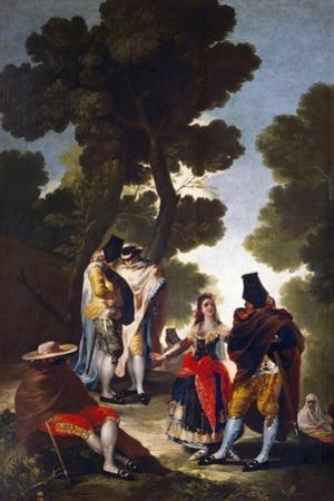 A Maja and Gallants, 1777 by Francisco de Goya