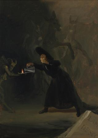 A Scene from the Forcibly Bewitched (El Hechizado Por Fuerz), 1798 by Francisco de Goya