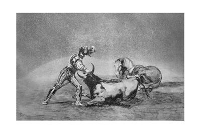 A Spanish Knight Kills the Bull after Having Lost His Horse by Francisco de Goya