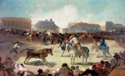 A Village Bullfight by Francisco de Goya
