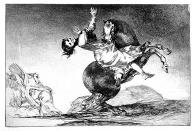 Abducting Horse, 1819-1823 by Francisco de Goya