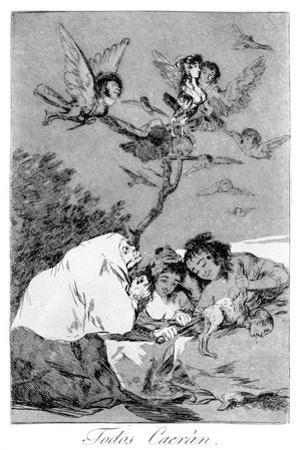 All Will Fall, 1799 by Francisco de Goya
