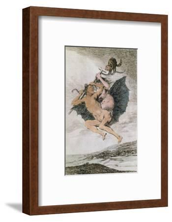 Alla Va Eso (There it Goes), Plate 66 of 'Los Caprichos', Late 18th (Colour Engraving) by Francisco de Goya
