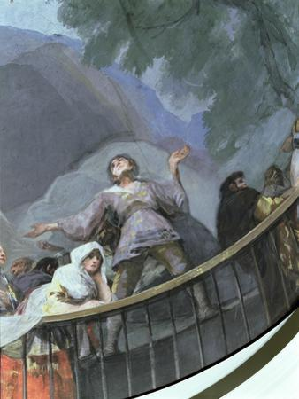 An Ecstatic Witness, Detail from the Miracle of St. Anthony of Padua, from the Cupola, 1798 by Francisco de Goya