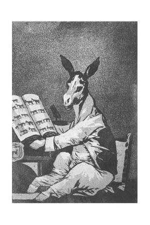 As Far Back as His Grandfather, Plate 39 of 'Los Caprichos', 1799 by Francisco de Goya