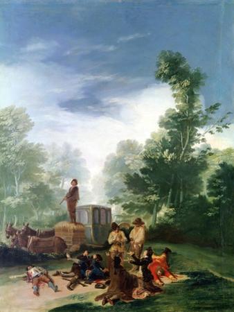 Attack on a Coach, 1787 by Francisco de Goya