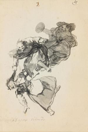 Bajan Rinendo (They Go Down Quarreling) by Francisco de Goya