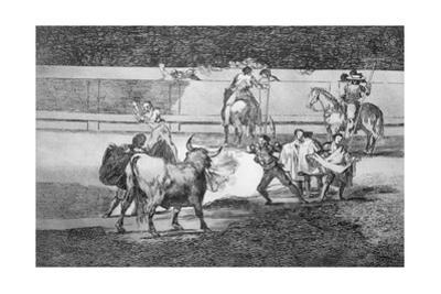 Banderillas with Firecrackers, Plate 31 of 'The Art of Bullfighting', Pub. 1816 by Francisco de Goya