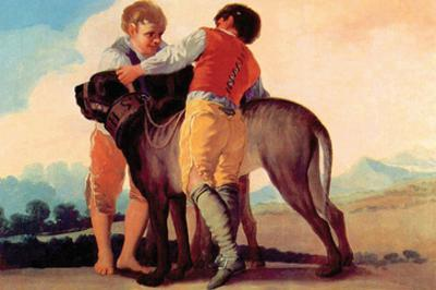 Boys with Blood Dogs by Francisco de Goya