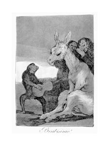 Bravo! a Caricature of Musical Evenings, 1799 by Francisco de Goya