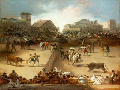 Bullfight in a Divided Ring by Francisco de Goya
