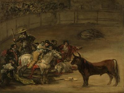 Bullfight, Suerte de Varas, 1824 by Francisco de Goya