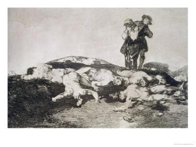 "Bury Them and Keep Quiet, Plate 18 of ""The Disasters of War"", 1810-14, Pub. 1863 by Francisco de Goya"