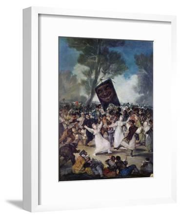Carnival Scene: the Burial of the Sardine (El Entierro De La Sardina), C. 1812-1819