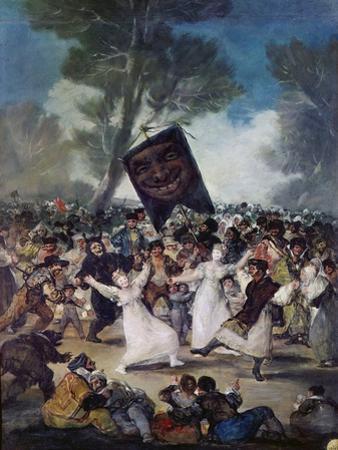 Carnival Scene: the Burial of the Sardine (El Entierro De La Sardina), C. 1812-1819 by Francisco de Goya