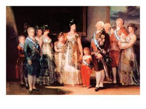 Charles Iv of Spain and His Family by Francisco de Goya