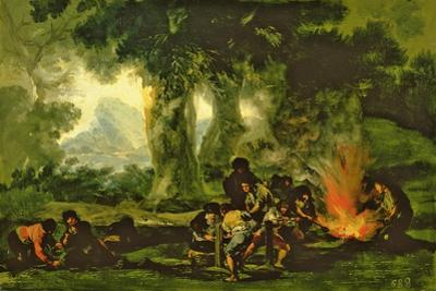 Clandestine Bullet Production, 1812-13 by Francisco de Goya