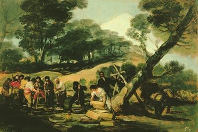 Clandestine Manufacture of Gunpowder, 1812-13 by Francisco de Goya