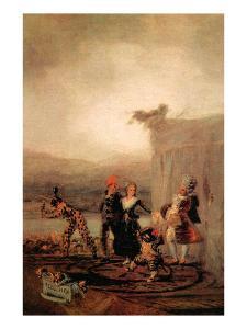 Comicos Ambulantes by Francisco de Goya