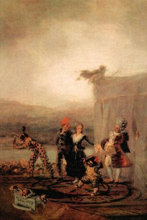 Comicos Ambulantes by Francisco de Goya