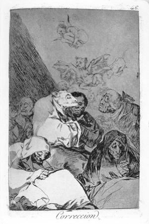 Correction, 1799 by Francisco de Goya