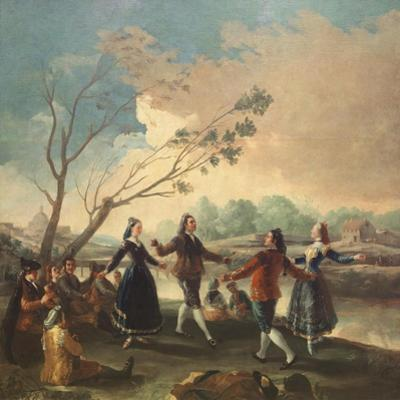 Dance on the Banks of the River Manzanares, 1777 by Francisco de Goya