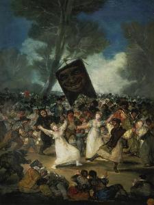 Das Begraebnis Der Sardine. Karnevalsszene, um 1812/1819 by Francisco de Goya