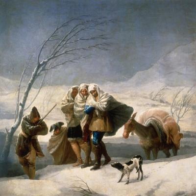 Der Winter (oder: Schneefall). 1786 - 87 by Francisco de Goya